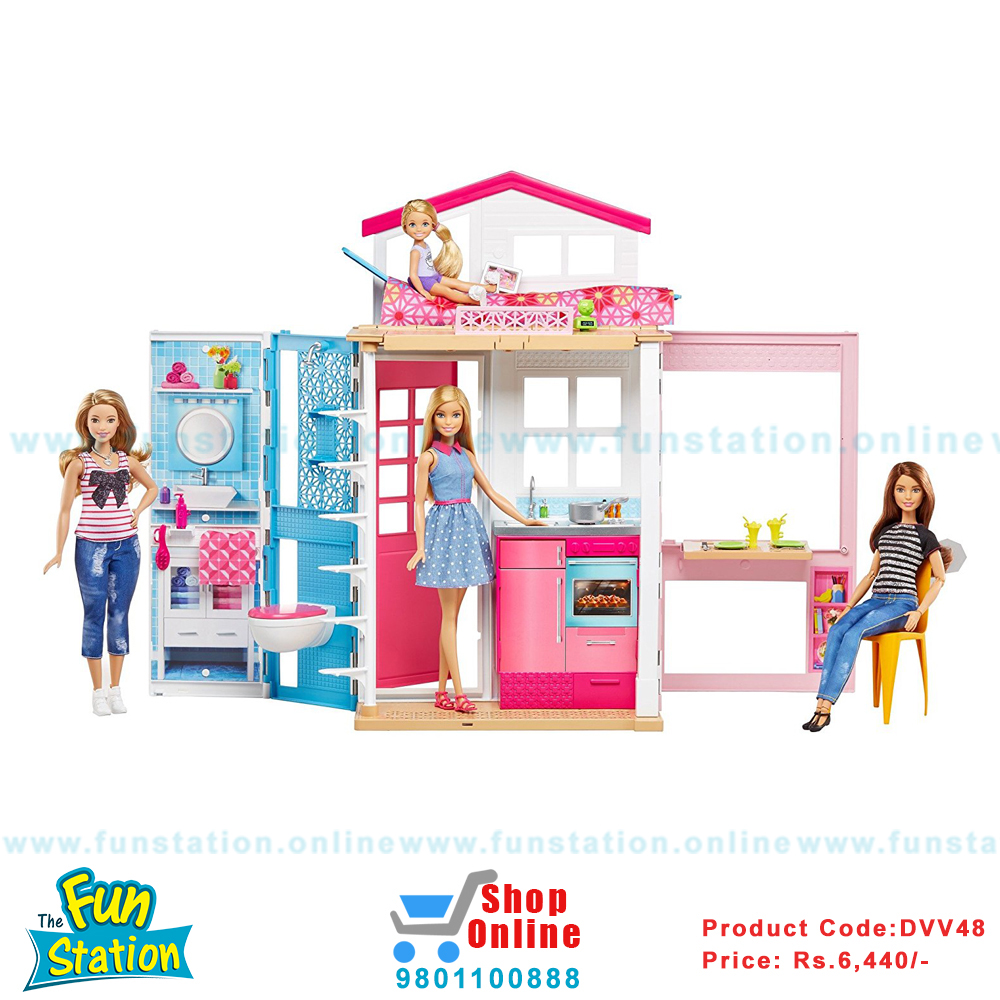 Buy Barbie 2 Story House In Nepal Shop Online Toys Baby Products